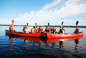 L2 canoe group photo