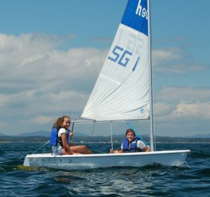 2 campers in a sailboat
