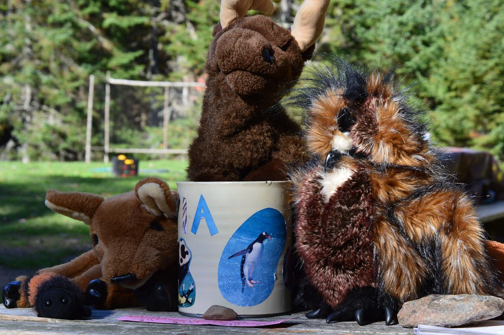 stuffed toys and coffee mug
