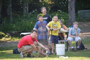 campers learn about rocket science