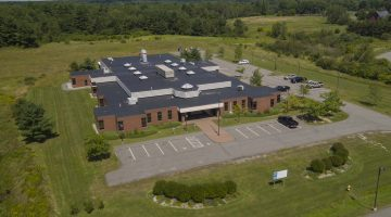 Arial View of the new UMaine Cooperative Extension Diagnostic and Research Laboratory building