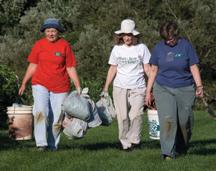 3 Master Gardener Volunteers at Rogers Farm