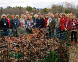 group of master gardeners around compost