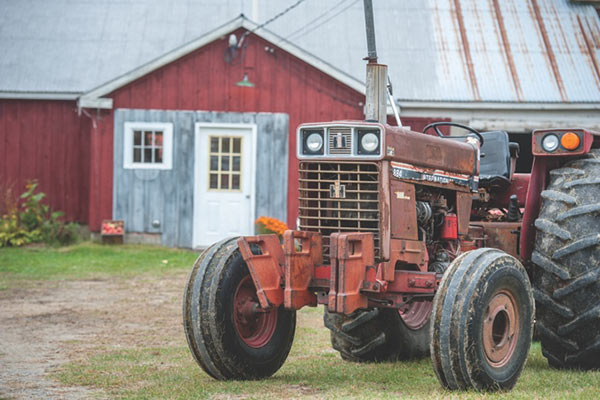 barn and tractor