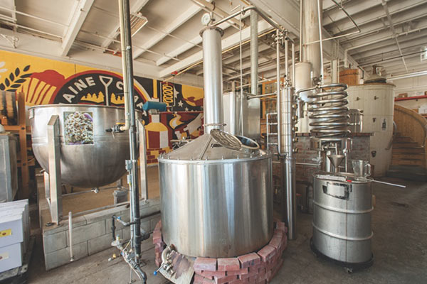 vats in a microbrewery