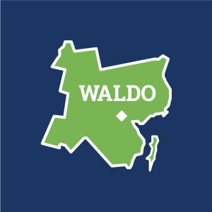 icon of Waldo County in Maine for landing page button