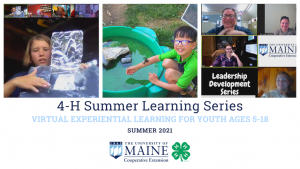 4-H Summer Learning Series Virtual Experiential Learning for Youth Ages 5-18 Summer 2021