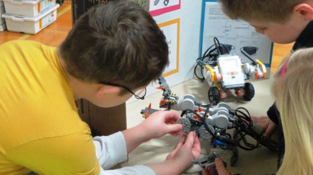 Young participants in the Robotics expo