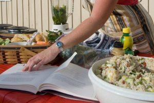 woman prepares nutritious food