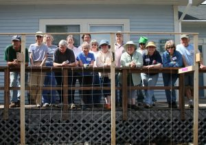 Washington County Master Gardener Class of 2009 group on a porch