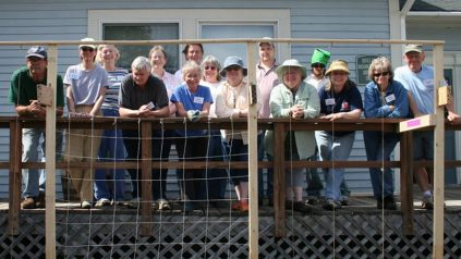 Washington County Master Gardener Class of 2009 group on a porch