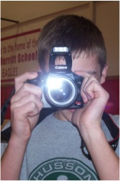 A 4-H Machines member taking photos - photo by Cole W.