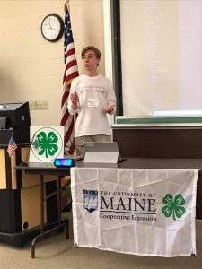Forrest presents at the 2019 Washington County 4-H Public Speaking Tournament.