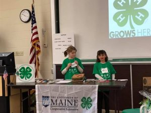 Phoebe and Ruth present at the 4-H PST.
