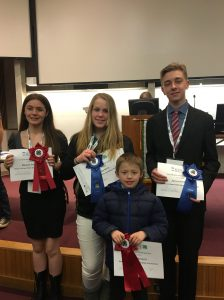 Washington County youth at the State 4-H Public Speaking Tournament.