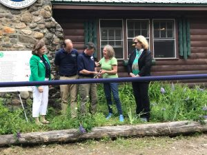 Ribbon cutting ceremony at the 4-H Camp and Learning Center at Greenland Point