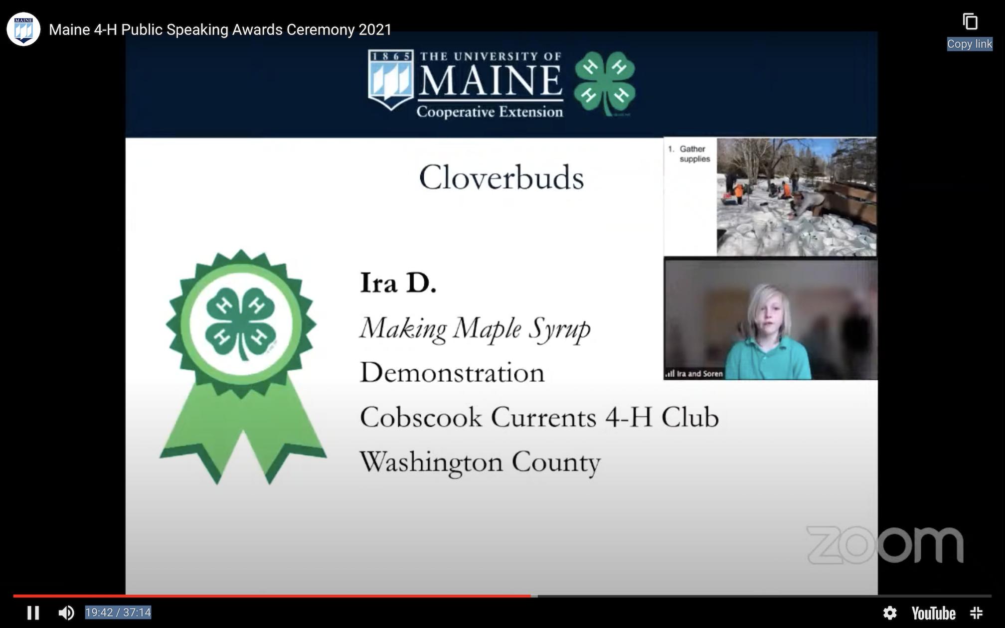 Ira's Award Slide, 4-H Public Speaking Tournament