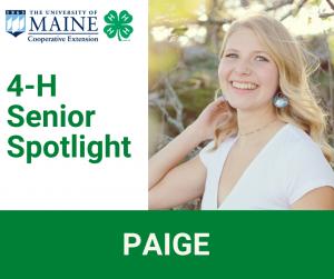 4-H Senior Spotlight, Paige