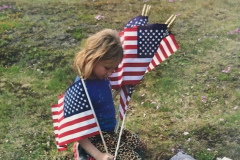 Tabitha LaRose, Independent, received a Judge's Choice Award for Little Sister Planting Veteran's Flags.