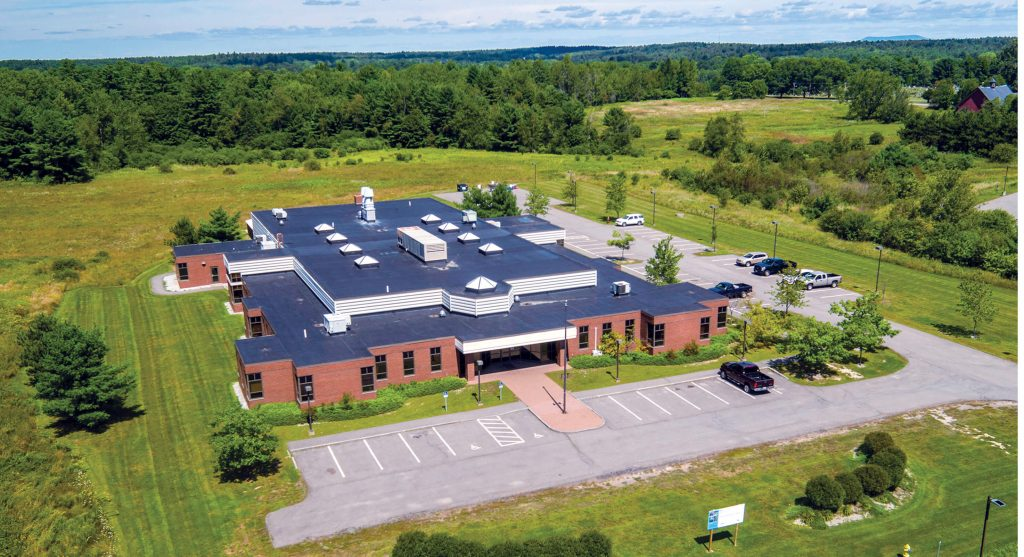 Aerial view of the UMaine Extension Diagnostic and Research Laboratory
