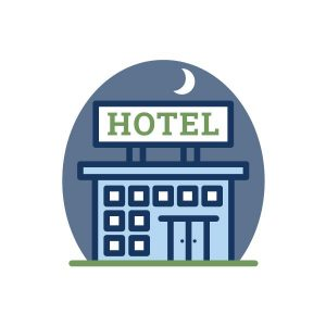 icon for hotel accommodations