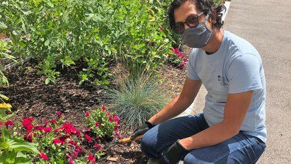 masked gardener