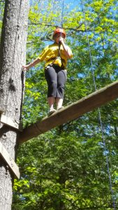 Ellie attended 4-H@UMaine and tackled the high ropes course